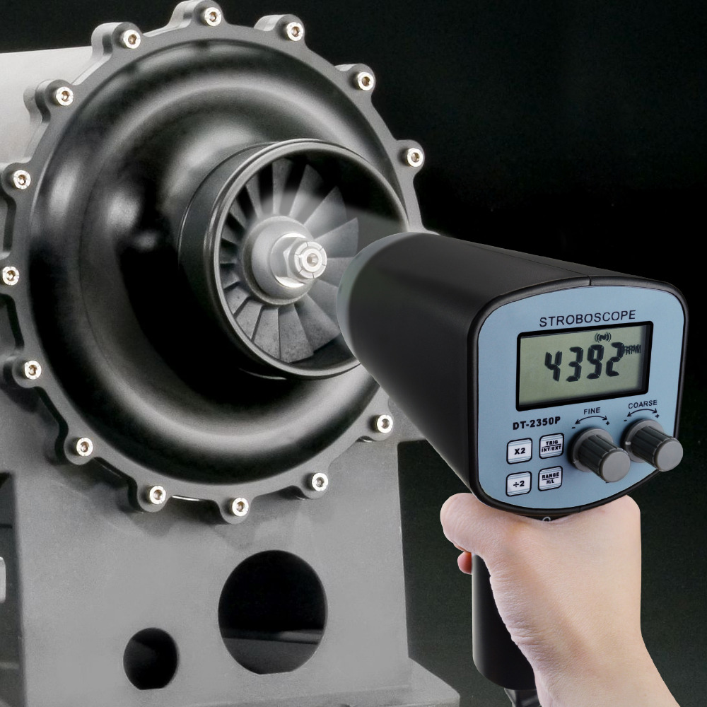 Handheld Stroboscope with 50~12,000 Flashes per Minute FPM 110V Rotational Speed Measure Digital 10mm 0.4 LCD Display