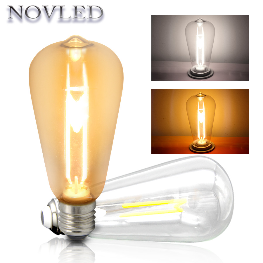 ST64 E27 Novelty Light M Shape 4W Industrial Decor Light Home Lighting Festival Holiday Lights LED Bulb M Industrial Style Lamp