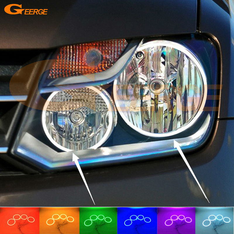 For Volkswagen VW Amarok 2011 2012 2013 2014 Excellent Angel Eyes Multi-Color Ultra bright RGB LED Angel Eyes kit Halo Rings for mercedes benz b class w245 b160 b180 b170 b200 2006 2011 excellent multi color ultra bright rgb led angel eyes kit