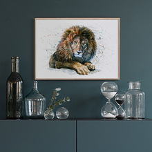 Bear Leopard Lion Tiger Watercolor Animal Nordic Posters And Prints Wall Art Canvas Painting Pictures For Living Room Decor