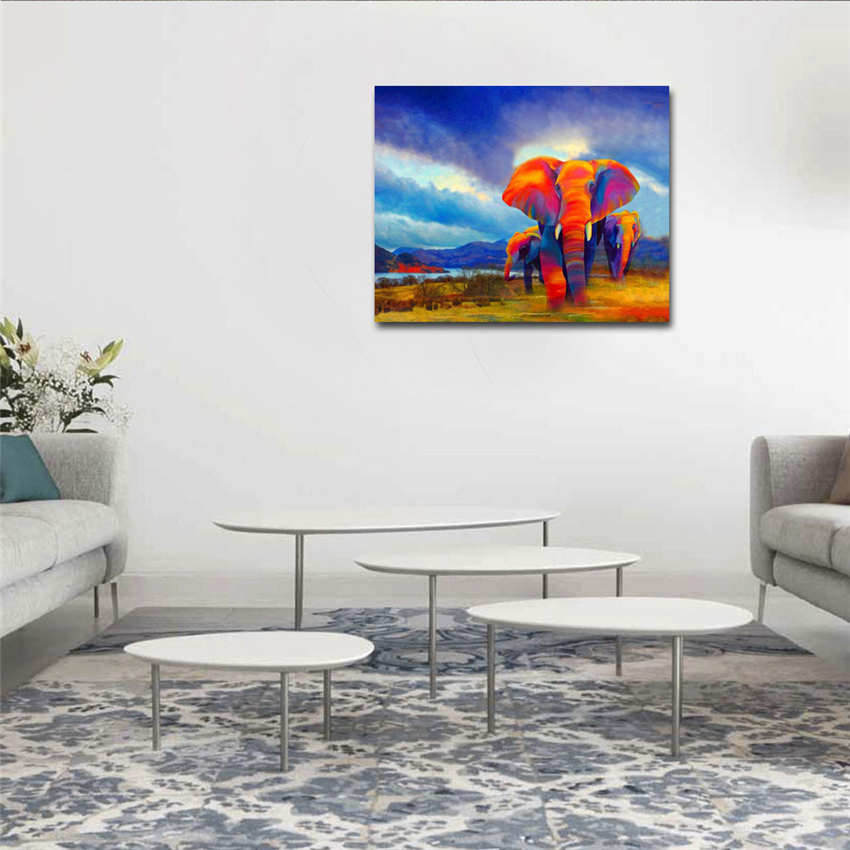 Home Decoration Nordic Style Couple Travel Oil Painting By Numbers Paintings Numbers in Painting Calligraphy from Home Garden