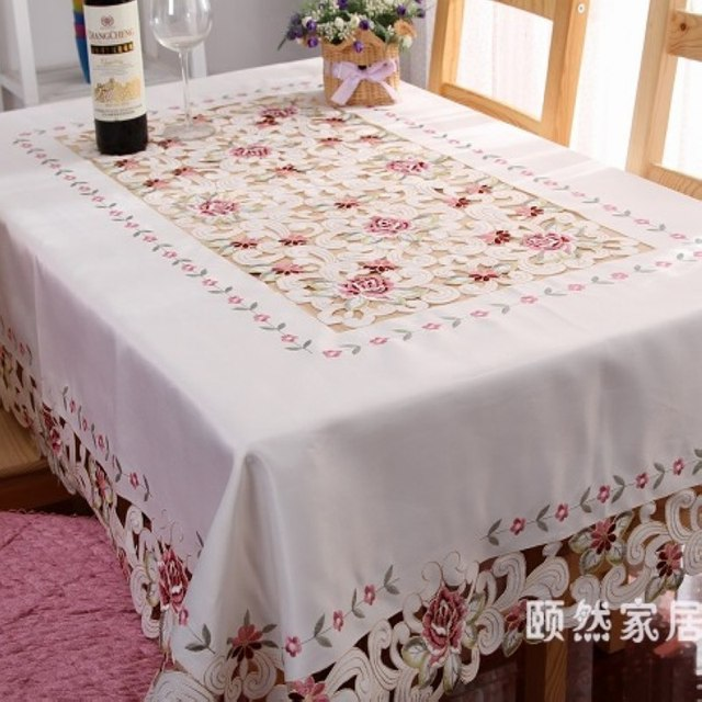 Fabric lace table cloth round table tablecloth dining table cloth table cloth peones