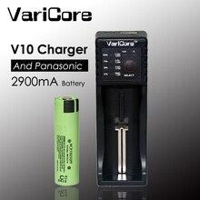 Original para Panasonic Bateria de Lítio-ion Recarregáveis plus V10 Novo Ncr18650pf 18650 2900 Mah 3.7 V Baterias Carregador