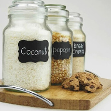 36Pcs/Set PVC Blackboard Sticker Kitchen Craft Stickers for Jar Organizer Can Labels Chalkboard Home Decor