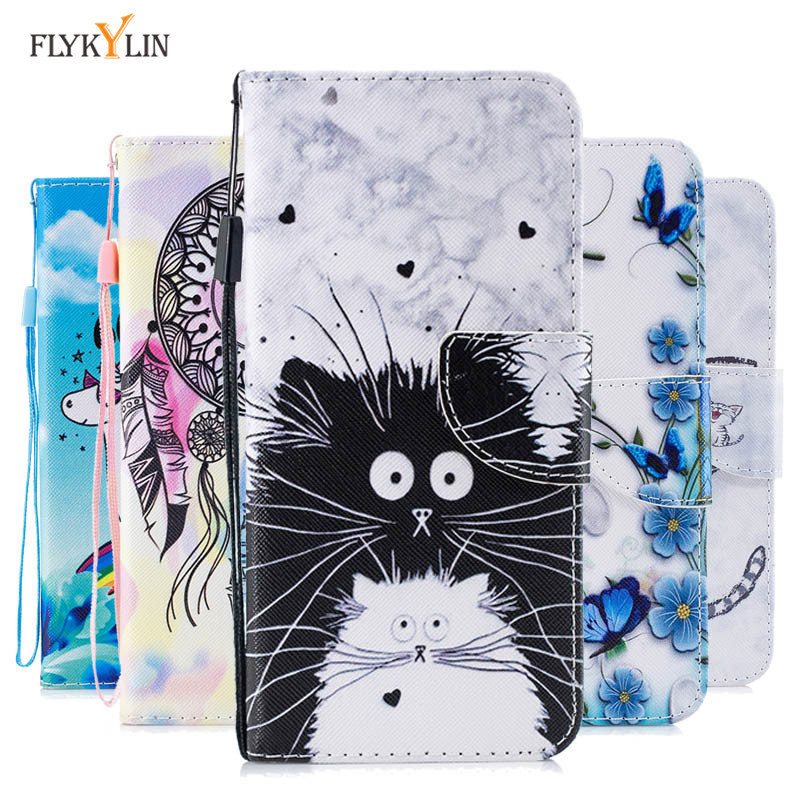 M10 M20 Leather Case on For Samsung Galaxy M10 Case Flip Wallet Magnet Case Cover For Coque Samsung M20 M 20 Phone Cases Women