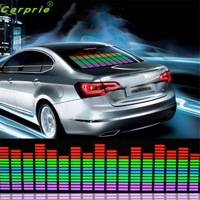 Car light  1pcs/2pcs  45x11CM Car Music Rhythm LED Flash Light Lamp Sound Activated Equalizer Car Light Panel Lamp #1219 car light 1pcs 2pcs 45x11cm car music rhythm led flash light lamp sound activated equalizer car light panel lamp 1219
