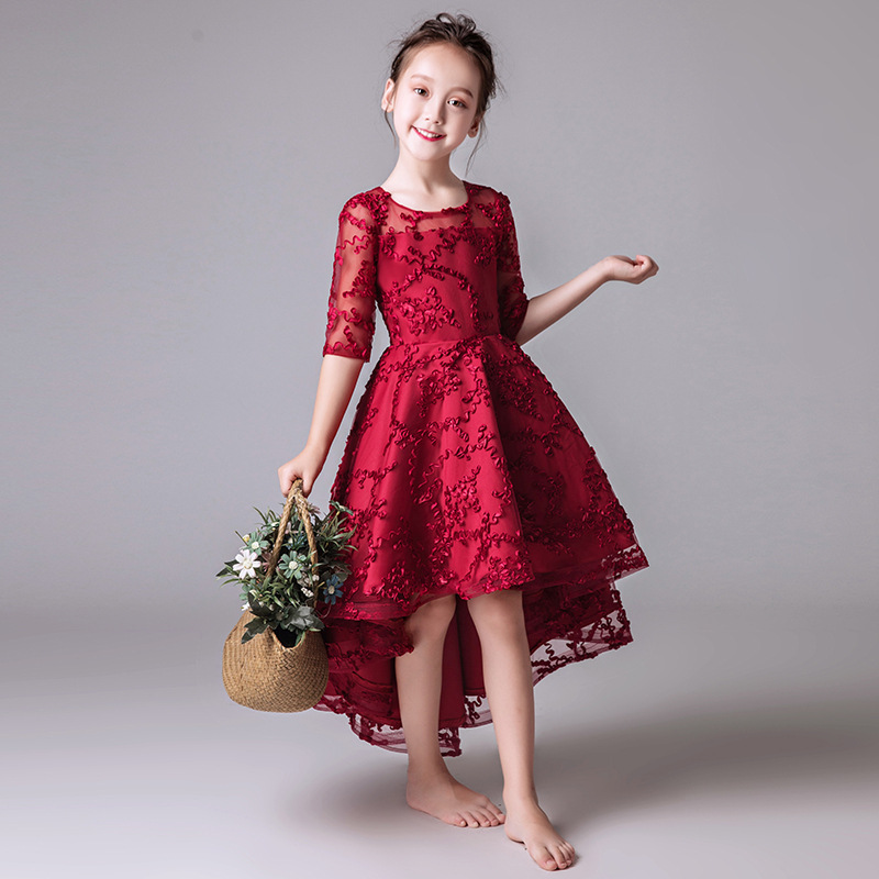 2019 for Weddings Tulle   Girl   Party Communion   Dress   Pageant Gown Romantic Lace Puffy Lace   Flower     Girl   party   Dress