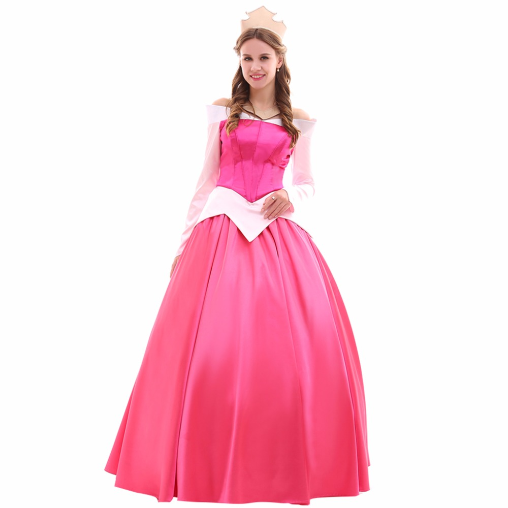 Cosplaydiy Custom Made Sleeping Beauty Red Version Aurora Cosplay Dress Adult Back Lace Up L0516