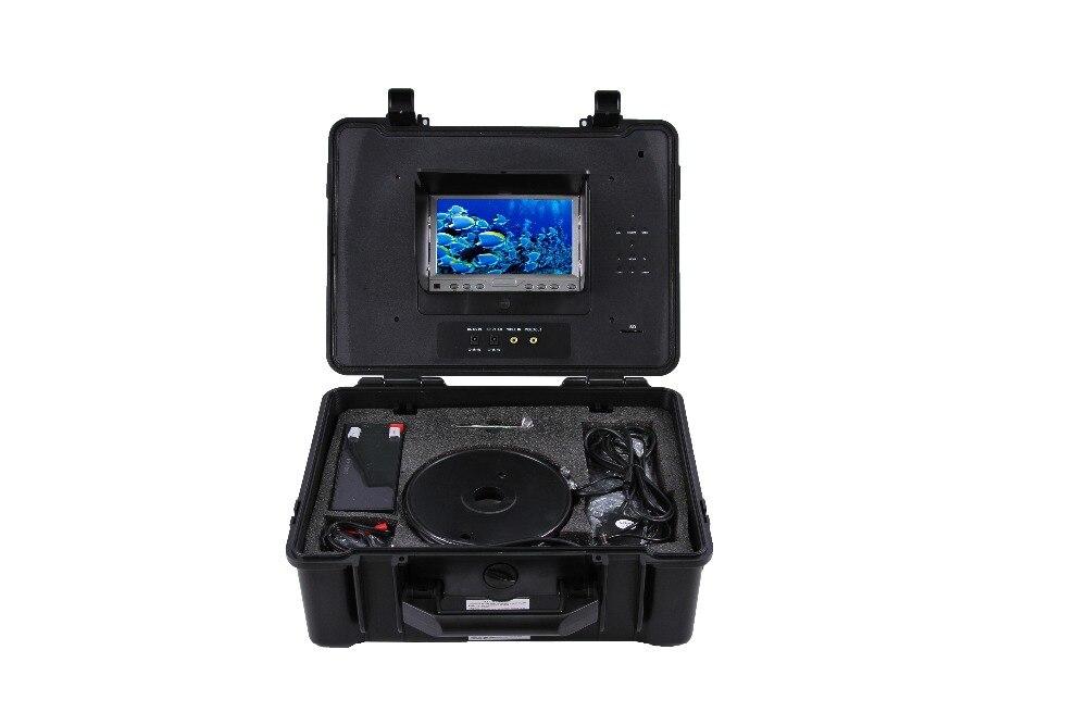 100 M étanche à l'eau 600TVL 360 degrés rotative caméra de pêche 7 pouces DVR AV Endoscope caméra