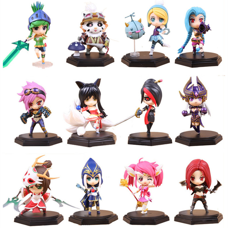 PVC Hot Game Action Figure Toy, Jinx Lux Ashe Orianna Lee Sin Figures, Model For Collection, Kids Toys, Anime Brinquedos Gift high quality anime lol pvc action figures lee sin the blind monk yasuo master yi figures model toys for boy s birthday gift