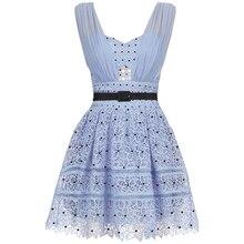 2019 robe femmes bleu