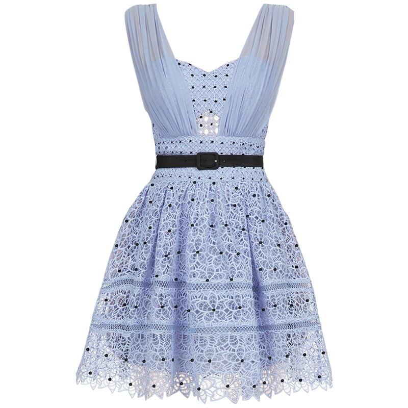 2019 nuevo vestido azul para mujer-in Vestidos from Ropa de mujer    1