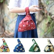 Little Paris hand made hand bag reversible women's drawstrin