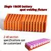 18650 Battery Fixture Single Row Battery Fixture Strong Magnet Attraction Fixture For 18650 Batteries Spot Welding
