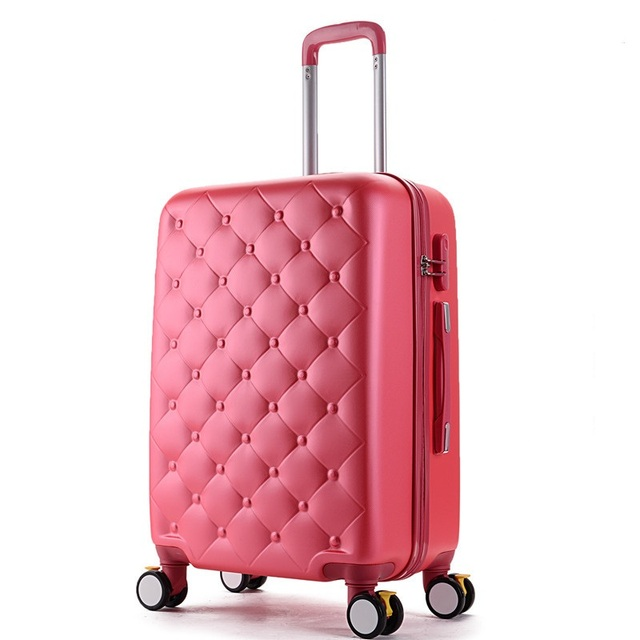 20/24 inches ABS girl students spinner trolley case Travel business luggage Combination lock rolling suitcase women Boarding box