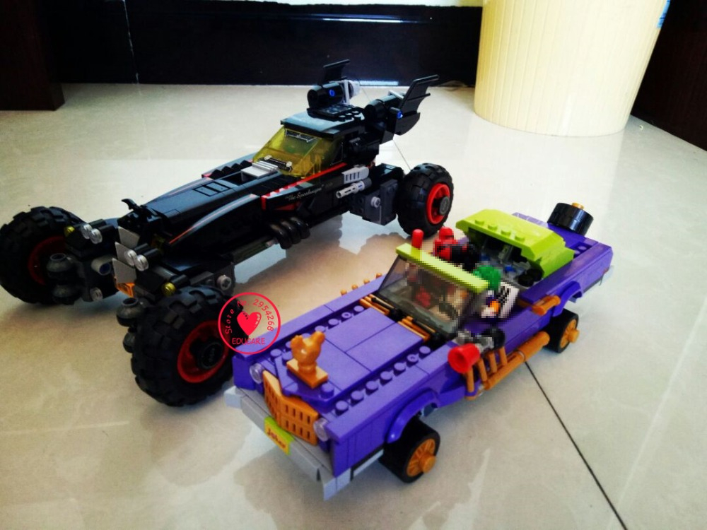 New 07045 07046 Superhero joker batman batmobile Robbin`s Mobile Set lepin model Building kit Blocks Bricks boy kid Toys 70905 gonlei new 610pcs 10634 batman movie the batmobile building blocks set diy bricks toys gift for children compatible lepin 70905