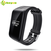 K1 Smart bracelet heart rate monitor smartband activity tracker Wristband Android IOS Phone Waterproof IP67 Passometer mi band