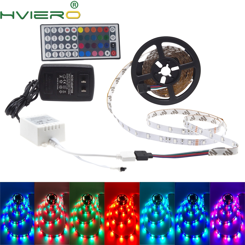 5m 2835 3528 LED Strip Lampa biurkowa RGB biały czerwony zielony niebieski żółty 300Leds pilot na podczerwień Holiday Light Night Garden Light