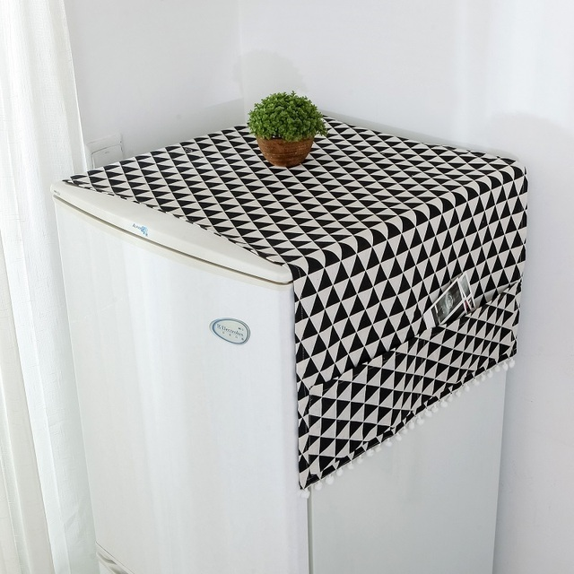 Simanfei Roller Washing machine Cover 2019 New Rural style Dust proof Covers Multi-function Refrigerator Dust Cover Storage Bags