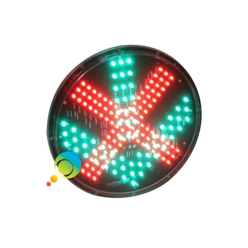 DC12V High Brightness 300mm Red Cross Green Arrow Traffic Light Module On Sale