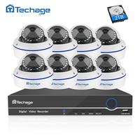 Techage 8CH Security Camera CCTV System 1080P POE NVR Kit 8PCS Dome Vandalproof IP Camera P2P