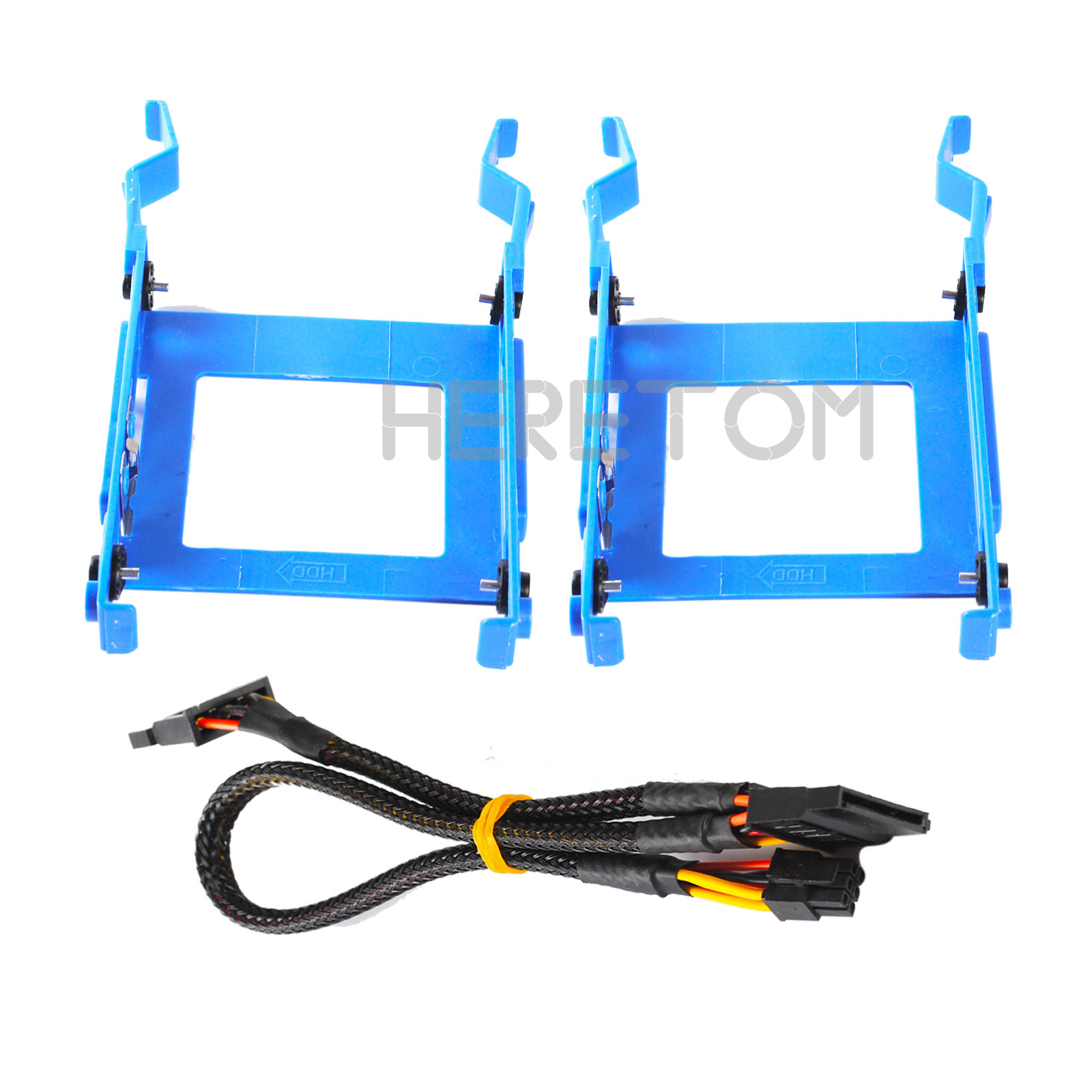 """Heretom 2.5"""" HDD Bracket Caddy 3650 for Dell Optiplex 3040 5040 5050 7040 7050 3046 MT X9FV3 with Power Cable GP2JM"""