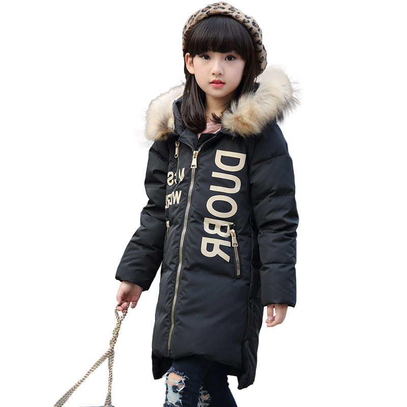 2017 Fashion winter girl's down jackets russia baby coats thick duck warm jacket for boys child outerwears -30 degree topcoat new 2017 winter baby thickening collar warm jacket children s down jacket boys and girls short thick jacket for cold 30 degree