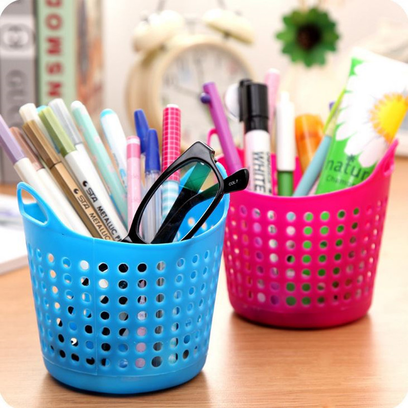 Fine Coloffice 1pc Pen Holder Home Jewelry Cosmetic Stationery Desk Storage Stationery Holder Box Holder School Office Supplies To Clear Out Annoyance And Quench Thirst Office & School Supplies