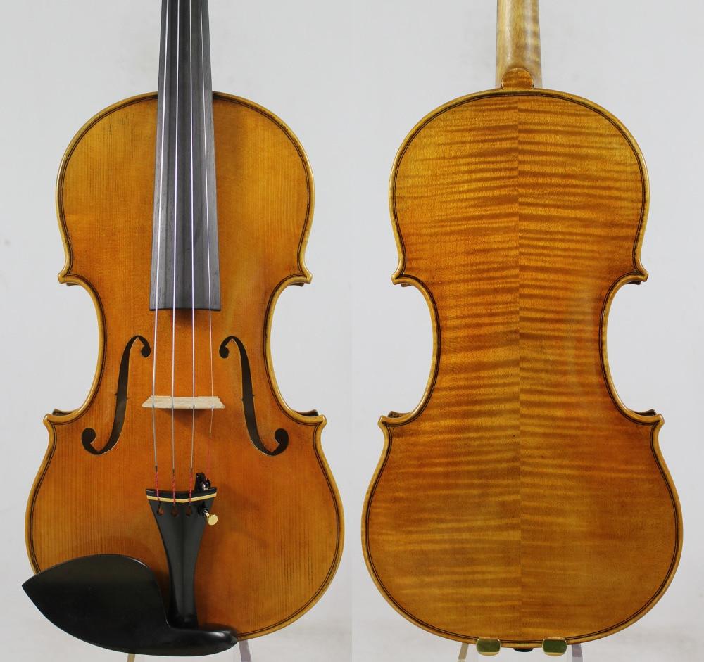 คัดลอก Guarnieri 'del Gesu' ไวโอลิน v iolino # 182 มืออาชีพไวโอลินเครื่องดนตรี + กรณี, โบว์, ขัดสน, จัดส่งฟรี!