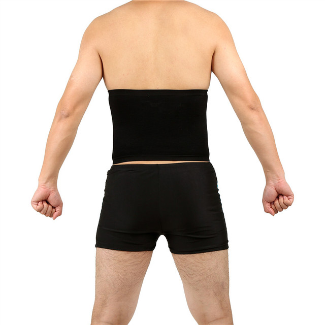 Waist Trimmer Slimming Belt for Men Male Sweat Sauna Abdominal Shapewear Waist Slimming Belt Beer Belly Body Shape 5
