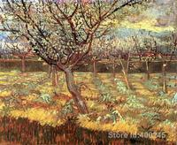 Paintings of Vincent Van Gogh Apricot Trees in Blossom art reproductions for sale High quality Handmade