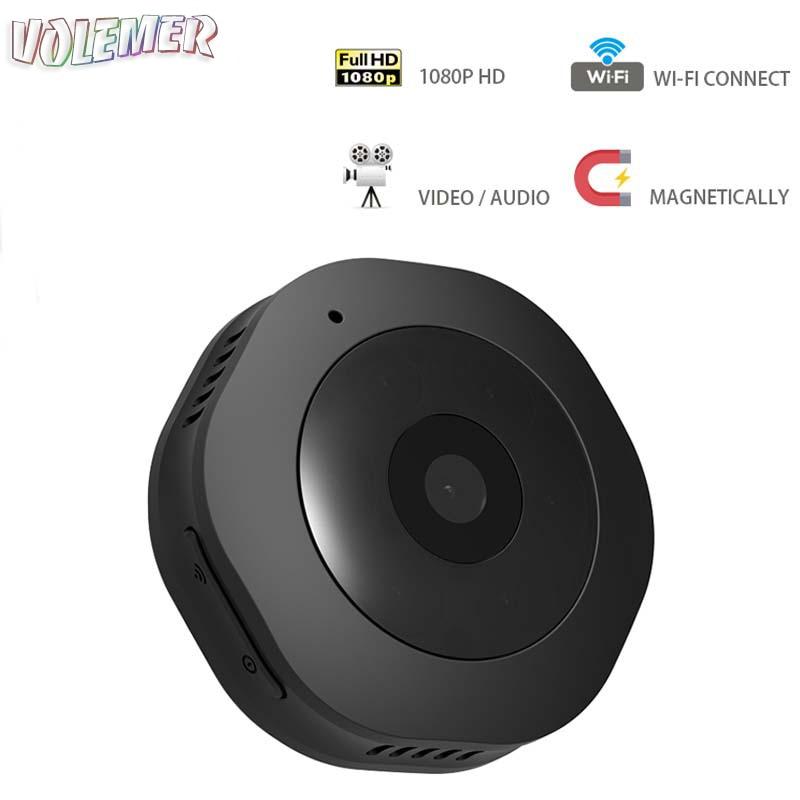 все цены на Volemer 1080P H6 wifi Mini Camera IR Night Vision Motion Detection Micro Camera DV DVR Recorder Mini Camcorder Home Safe Camera