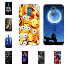 For LG Q7 Protective Case Ultra-thin Soft TPU Silicone For LG Q7 Plus Phone Cover Beach Patterned For LG Q7 Alpha Q7a Bumper Bag цена