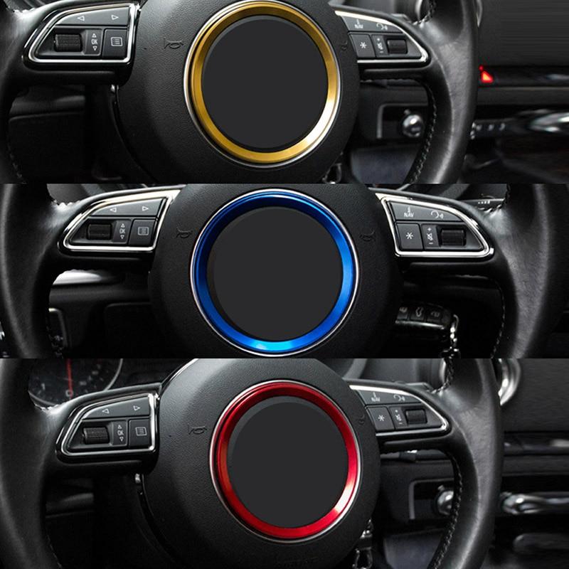 SPEEDWOW Steering Wheel Center Decoration Cover Trim Auto Interior JDM For Audi A1 A3 S3 A4 A5 S5 A7 S7 Q3 Q5 TT