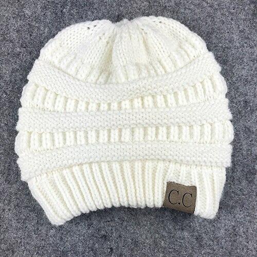 59e2df6db1ee1 BONJEAN women warm hat CC Trendy Warm winter knitted Chunky Soft ...