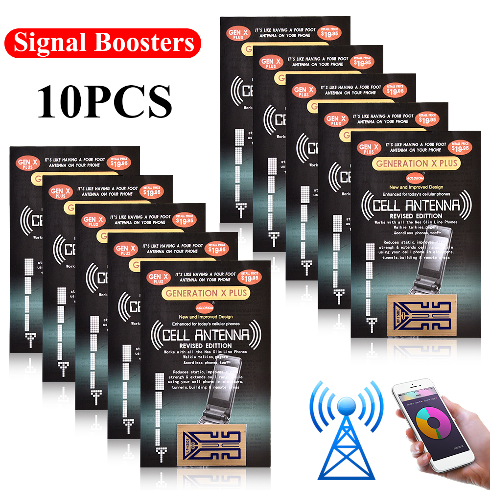 10 PCS Outdoor Cell Phone Mobile Phone Signal Enhancement Gen X Antenna Booster Improve Stickers Camping Tools