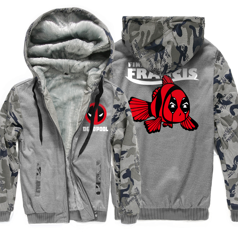 Hooded men wool liner long sleeve tracksuits harajuku hipster warm Camouflage color style Hoodies Thick Zipper Jacket coats 2018