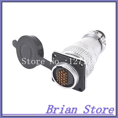 AC 300V 6A 20 Pin Electric Deck Aviation Connector Adapter Plug Y28-20 electric cable aviation 4p 25mm pannel connector plug adapter ac 250v 7a
