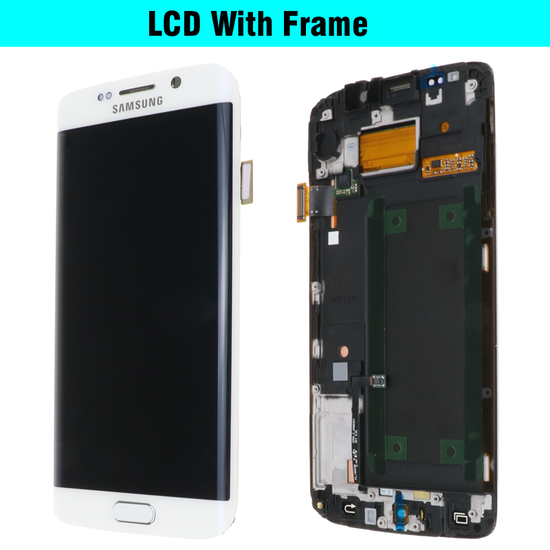 ORIGINAL 5.1'' SUPER AMOLED Display for SAMSUNG Galaxy S6 edge LCD + Frame G925 G925I G925F Touch Screen Digitizer+Service pack