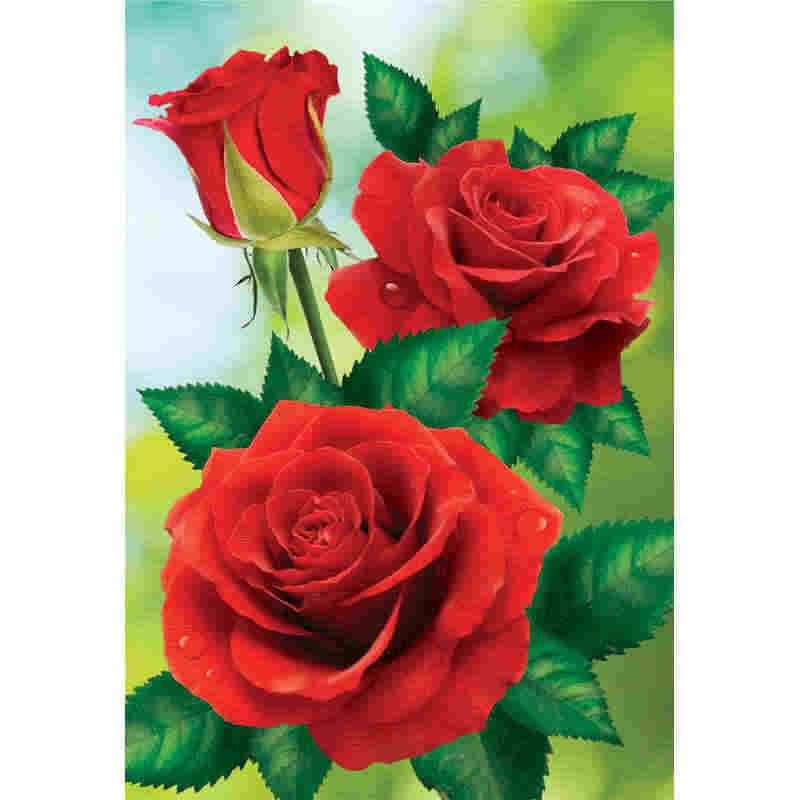 5D круглый Набор алмазной вышивки крестиком красное изображение розы для алмазной вышивки Diy Алмазная мозаика, цветы XU