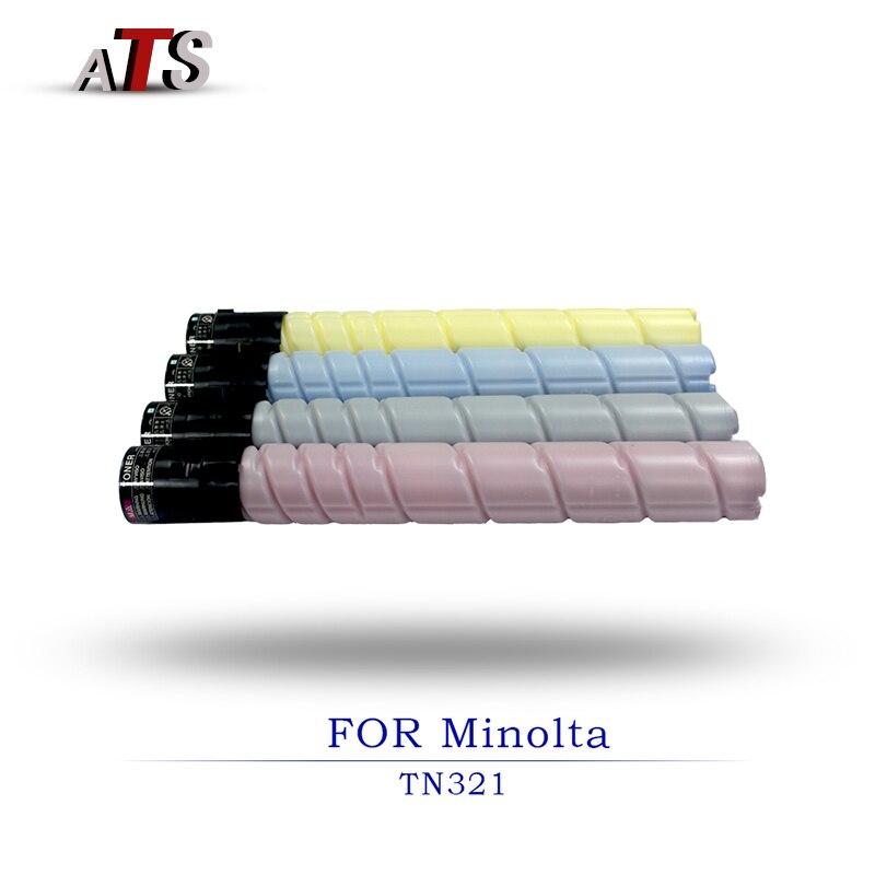 1 cartouche de Toner noir 209g CMY 112.5g pour Konica Minolta TN321 Bizhub BH C224 C224e C284 C284e C364 C227 C287 compatible