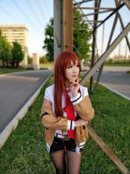 Steins Gate Cosplay Costume Japanese Anime Cosplay Makise Kurisu Cosplay Jacket Coat Outfit Suits Uniform 1