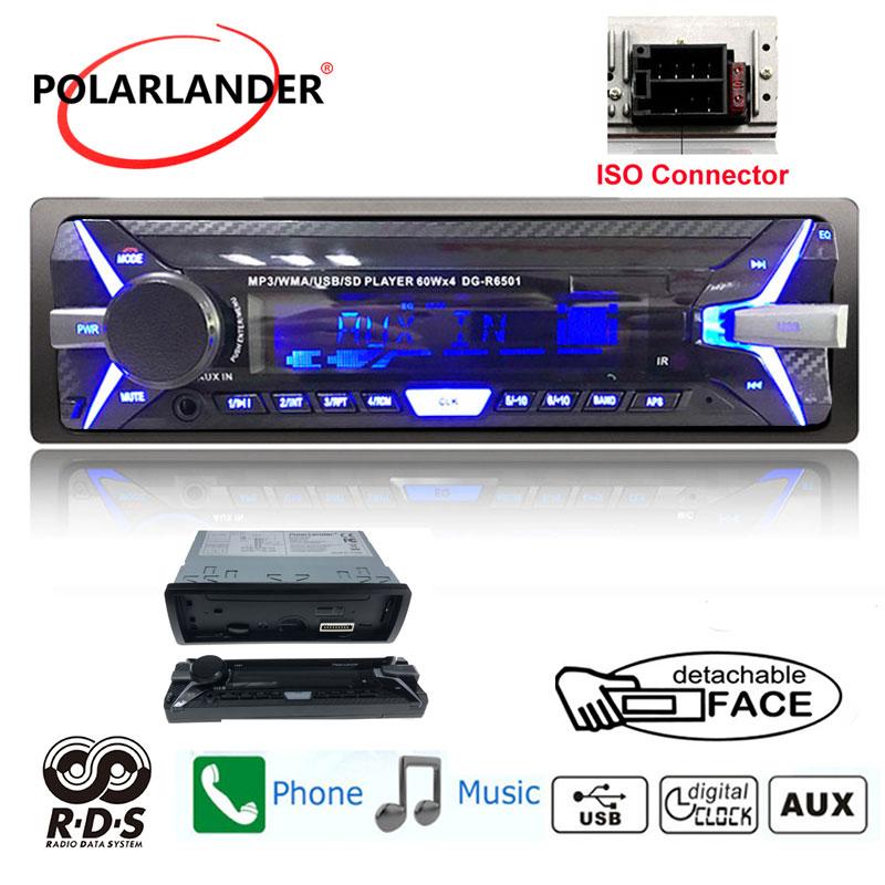 AM Auto Stereo FM Car Radio BT Car MP3 Player Detachable Panel 1 Din RDS