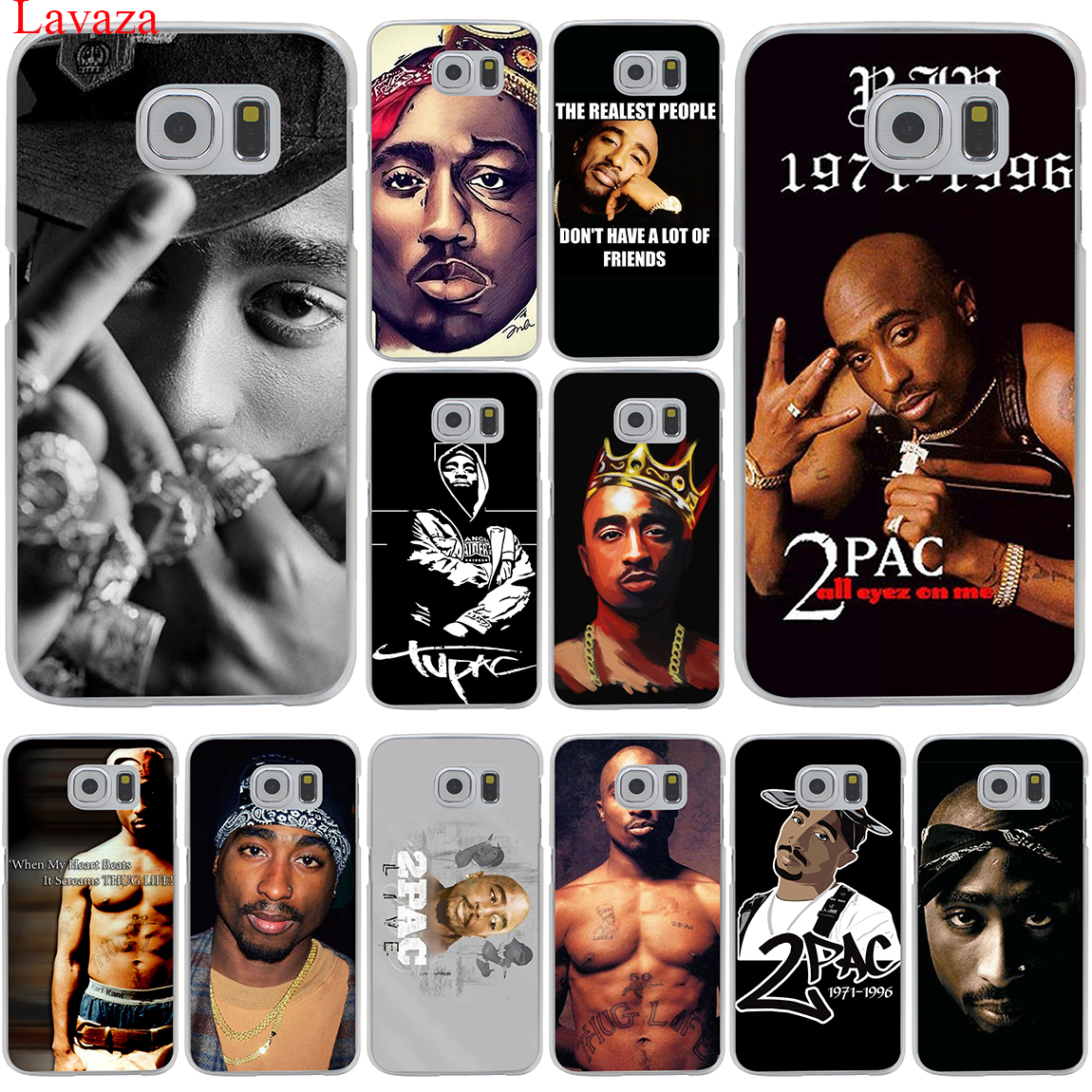Lavaza 2Pac Tupac Amaru Shakur Hard Transparent Phone Case for Samsung  Galaxy S8 S9 Plus S3 S4 S5 S6 S7 Edge Cover-in Half-wrapped Case from