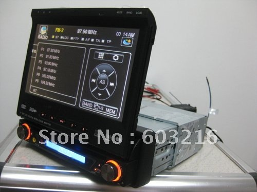 1 din 7 inch car dvd player one din universal series with GPS,bluetooth,IPOD