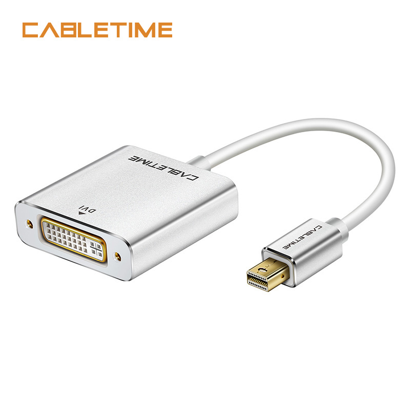 US $6 66 27% OFF|Cabletime Mini Displayport to DVI Adapter Male to Female  New Thunderbolt Mini DP M to DVI F for MacBook/Pro/Air N171 on