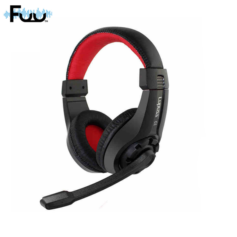 3.5mm Audio Over Ear Earphone Sport Game Headset Headphone Gaming Low Bass Stereo with Mic for PC Laptop Computer Tablet