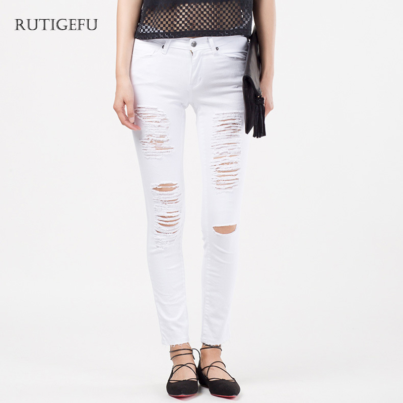 White Ladies Jeans Promotion-Shop for Promotional White Ladies ...