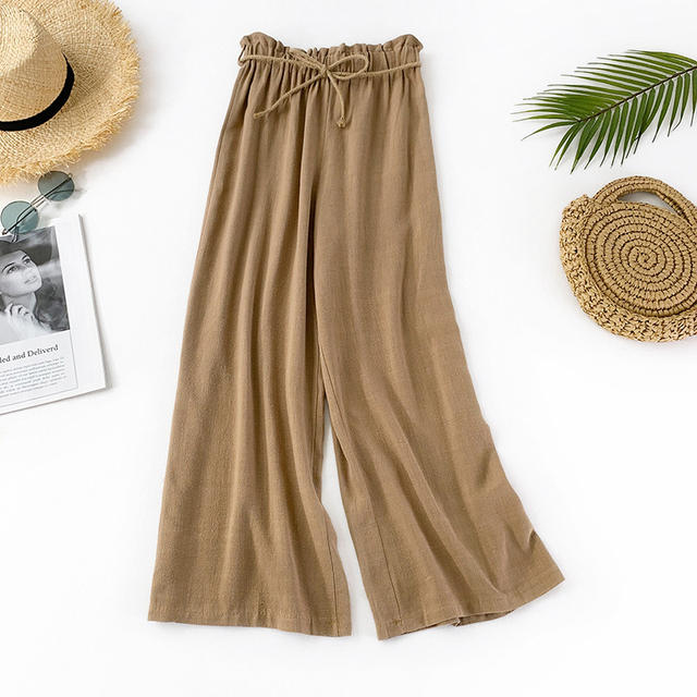 2019 Summer trend beach Breathable Linen cloth skirt personality Fashion Female life popular New Arrivals ZYFPGS Brand