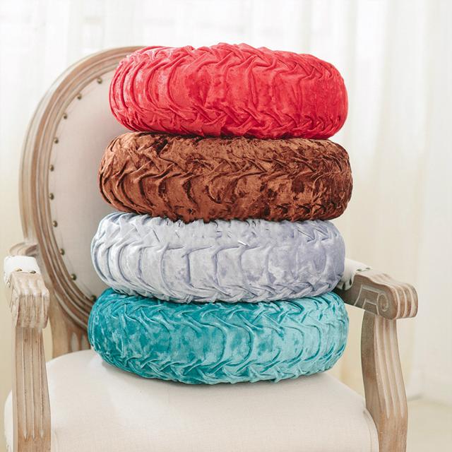 Para sillas y sofas Cojín redondo PP algodón calabaza asiento almohadilla para Patio hogar Coche Oficina almohada relleno de espuma tatami cojines